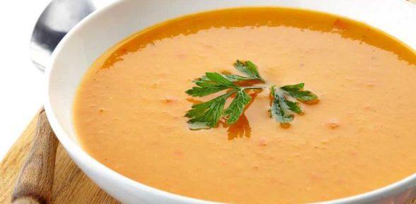 Суп с бататом и луком-пореем