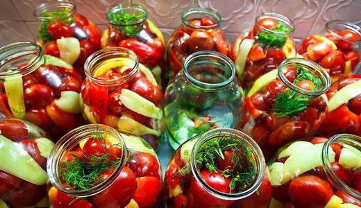 Заготовки на зиму из помидоров и перца