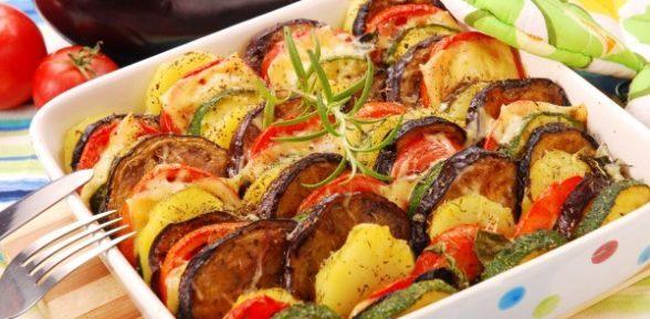 Цуккини с помидором и картофелем