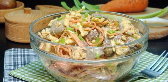 Салат с цуккини и грибами