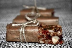 Батончик мюсли с орехами (без выпечки)