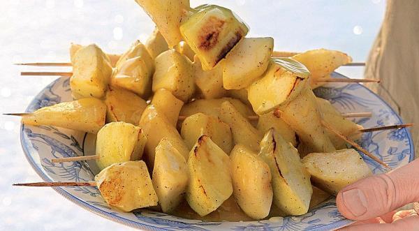фруктовый шашлык в духовке