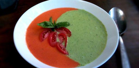 Летний испанский суп gazpacho