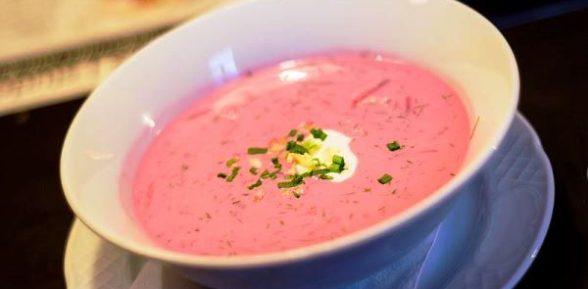 Литовский розовый суп