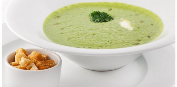 Пикантный крем-суп из шпината