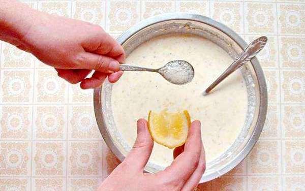 погасить соду лимонным соком