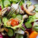 фото салата легкого с грибами
