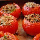 тушеные помидоры с грибами