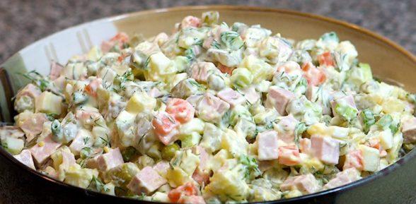 Рецепты салата «Оливье»
