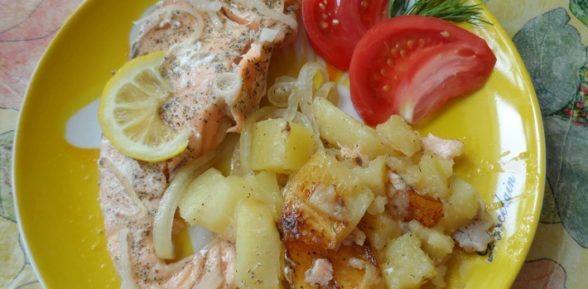 Рыба с картошкой в пароварке