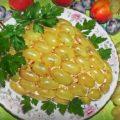Салат виноградная лоза