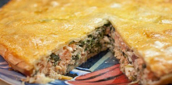 Пирог с минтаем