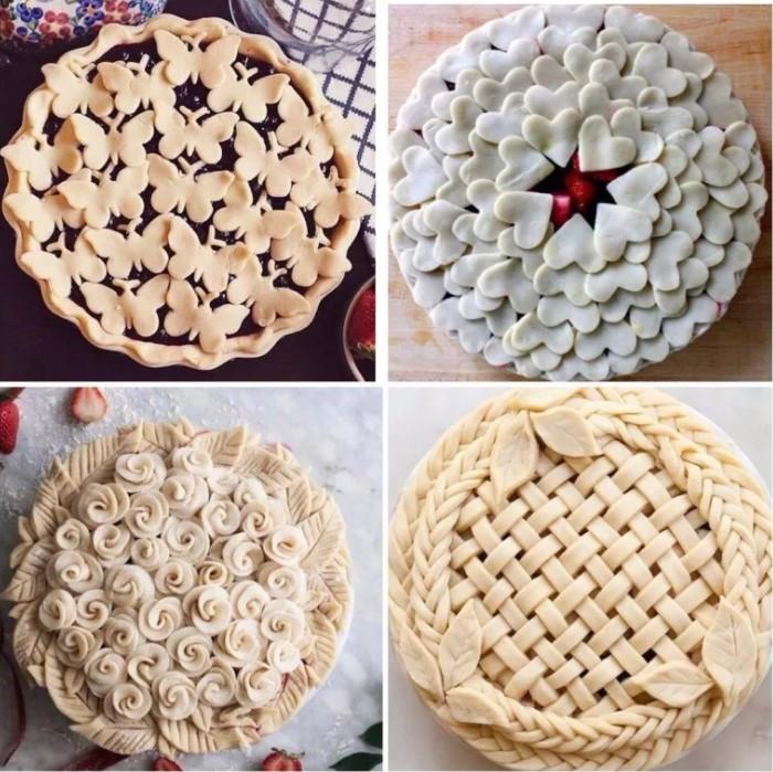 Как украсить пирог тестом 3