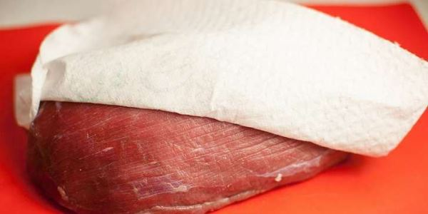 обсушить мясо