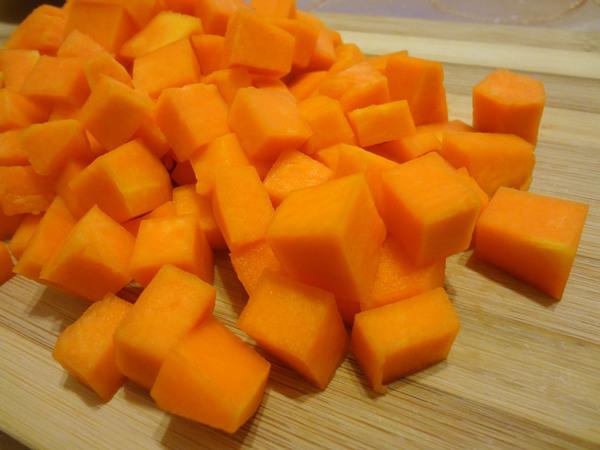 Тыква кубиками