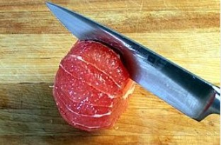 Очистить грейпфрут