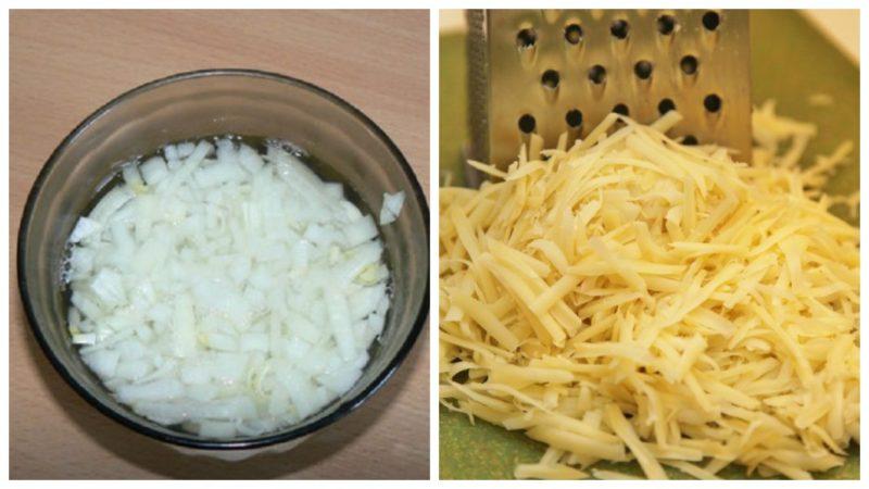 лук и сыр