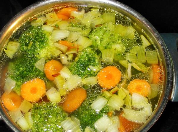 овощи залить бульоном
