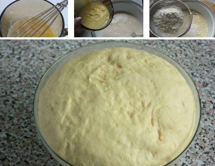 Готовим тесто для пирожков