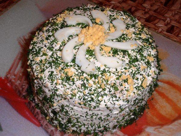 вид готового торта