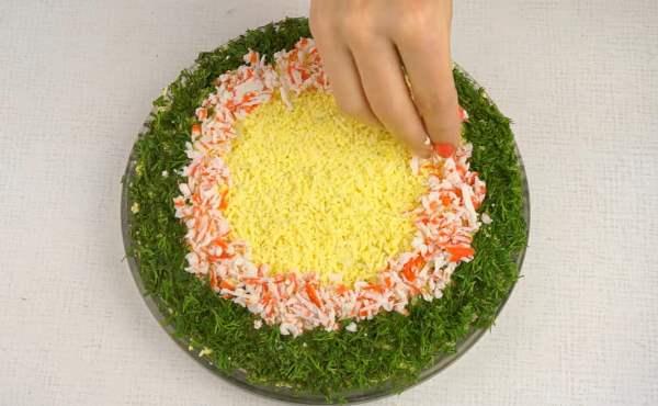 готовый салат нежный