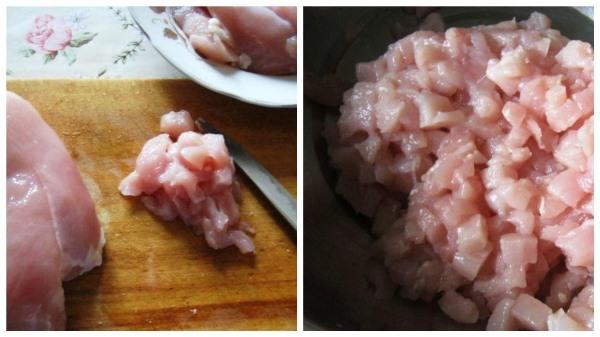 нарезать куриное филе