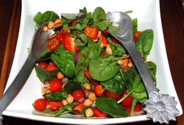 салат масала со шпинатом