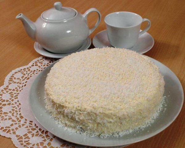 готовый торт рафаэлло