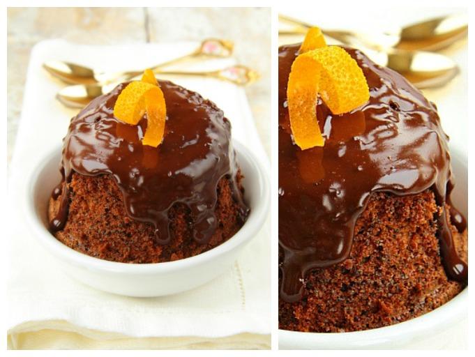 Апельсиново-шоколадный кекс в кружке