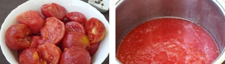 Нарезать помидоры и отжать сок