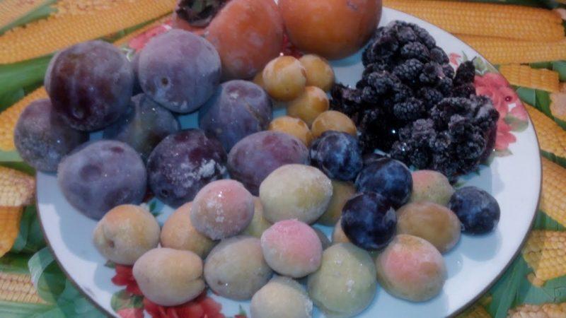 Разморозить фрукты