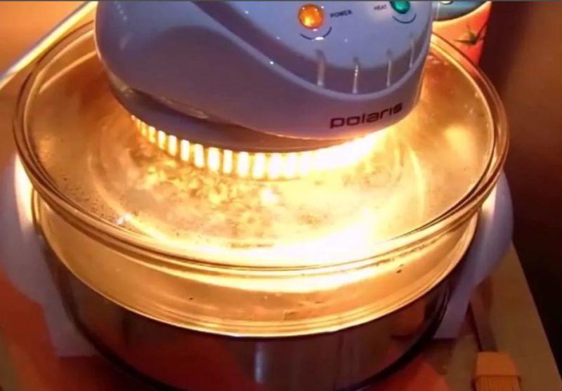 Поставить пирог в аэрогриль