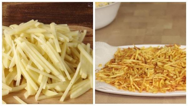 пожарить картофель соломкой