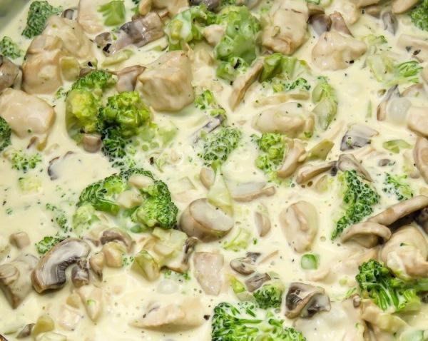брокколи с грибами протушить в молоке