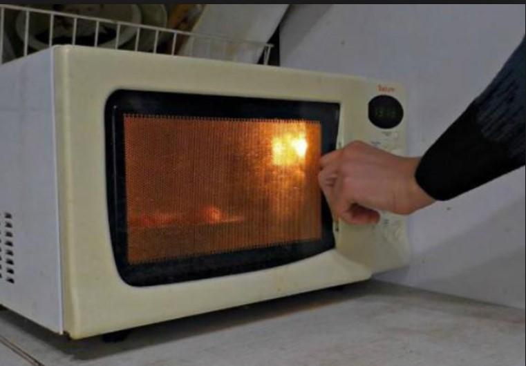 Тарелку с картошкой в микроволновую печь