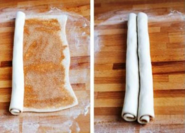 скрутить тесто