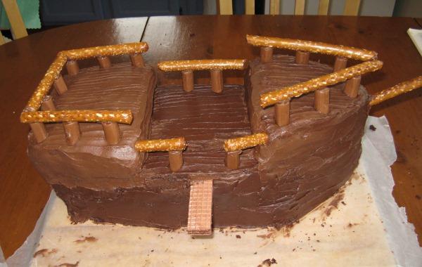 готовый торт корабль
