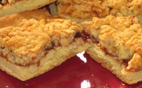 порционные куски песочного пирога