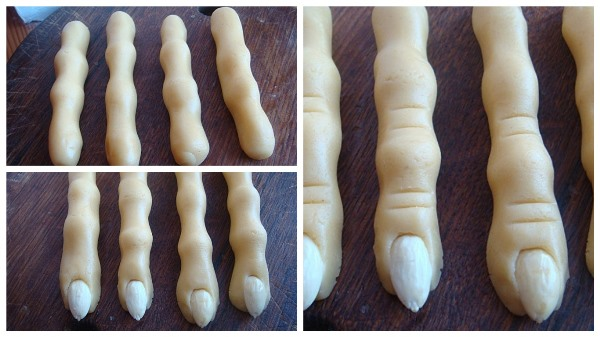 сформировать печенье в виде пальцев