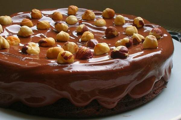 торт нутелла с шоколадом и орехами