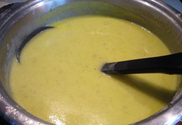 готовый суп-пюре с картофелем