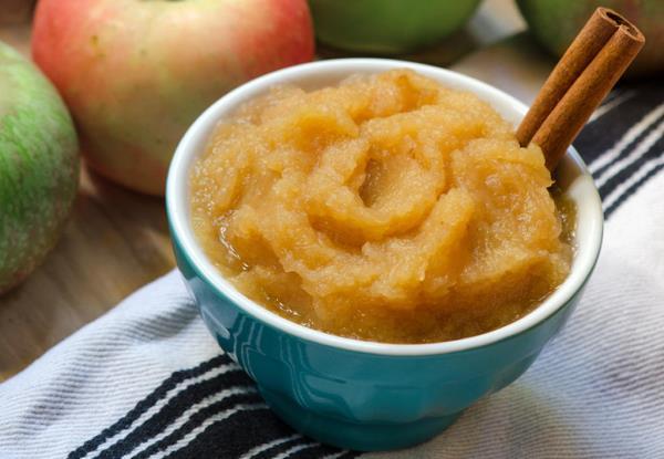 готовое яблочное пюре