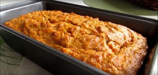 готовый кекс с морковью