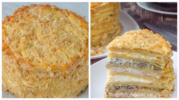 готовый пирог Наполеон