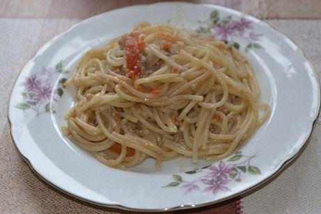 Домашние спагетти по-флотски