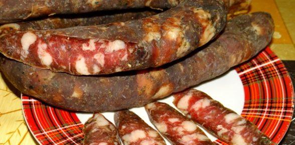 Приготовление сыровяленой колбасы