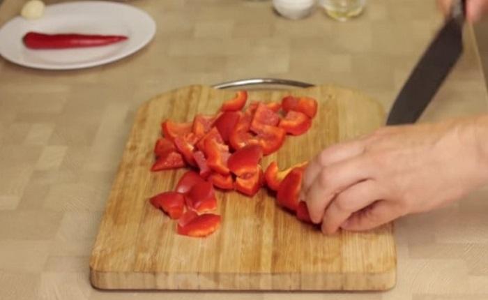 Порезать перец