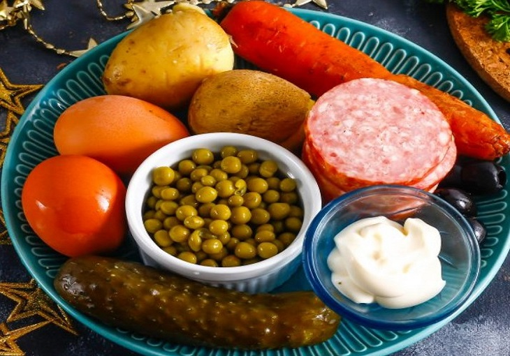 Ингредиенты для салата Бычок