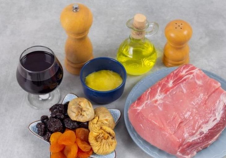 Ингредиенты для свинины под глазурью